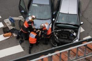 accidente lateral por saltarse las normas de circulacion