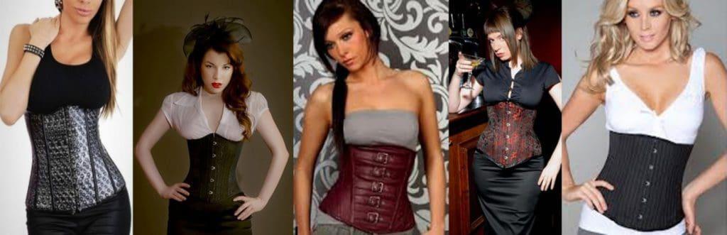 diferentes tipos de corsets