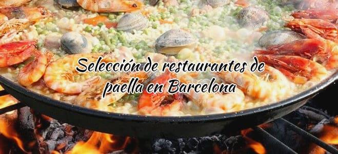 Selección de restaurantes de paella en Barcelona